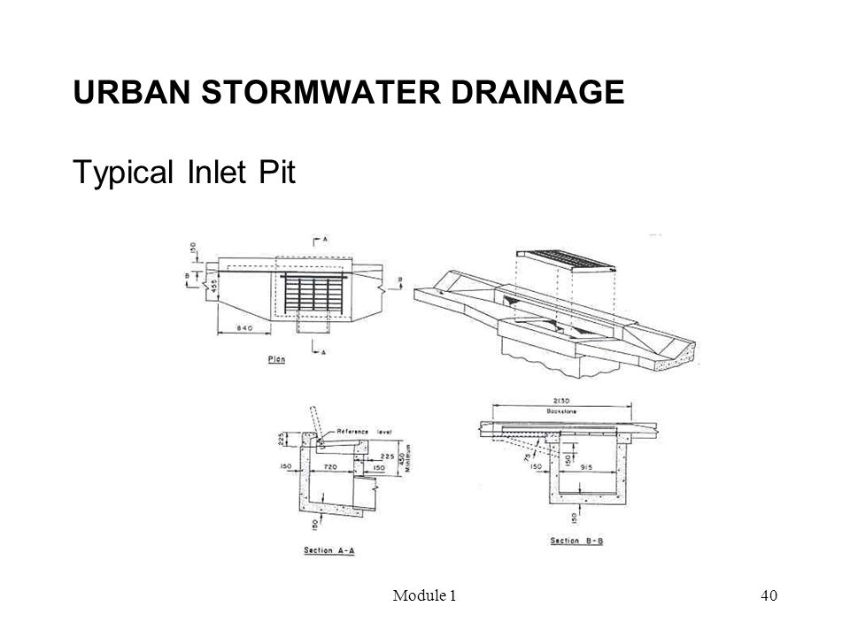 URBAN STORMWATER DRAINAGE Typical Inlet Pit