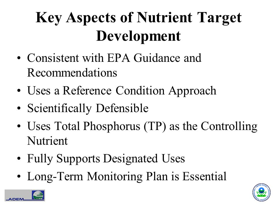 Key Aspects of Nutrient Target Development