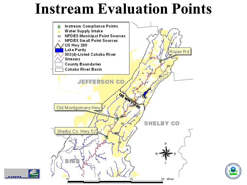 Instream Evaluation Points