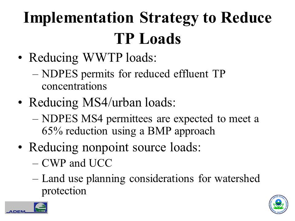 Implementation Strategy to Reduce TP Loads