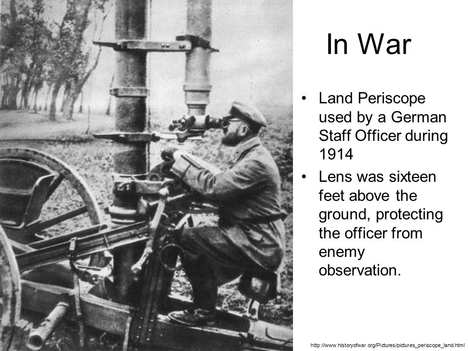 In War Land Periscope used by a German Staff Officer during 1914