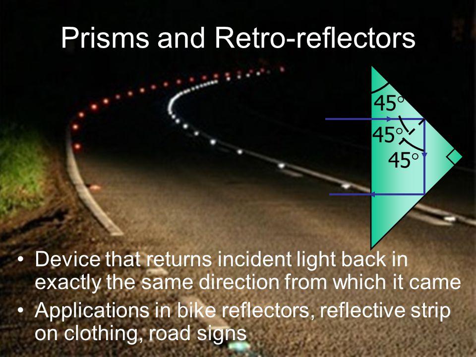 Prisms and Retro-reflectors