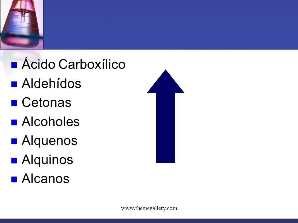Ácido Carboxílico Aldehídos Cetonas Alcoholes Alquenos Alquinos