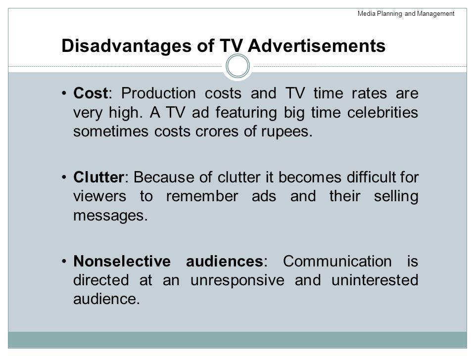 Disadvantages of TV Advertisements