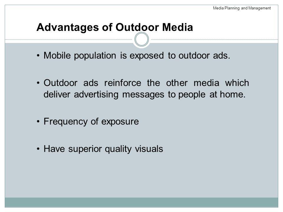 Advantages of Outdoor Media