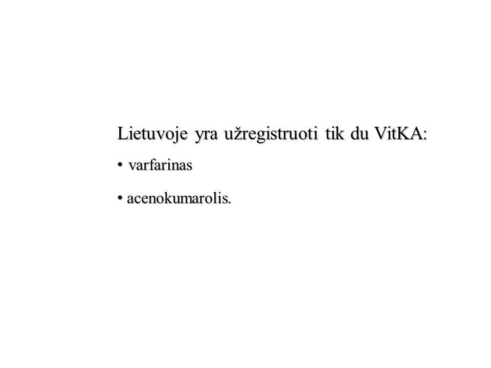 Lietuvoje yra užregistruoti tik du VitKA: varfarinas acenokumarolis.