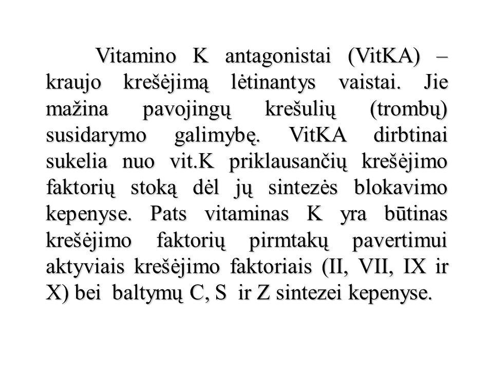 Vitamino K antagonistai (VitKA) – kraujo krešėjimą lėtinantys vaistai