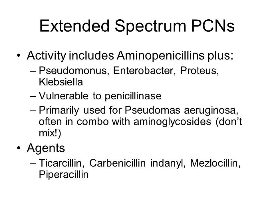 Extended Spectrum PCNs