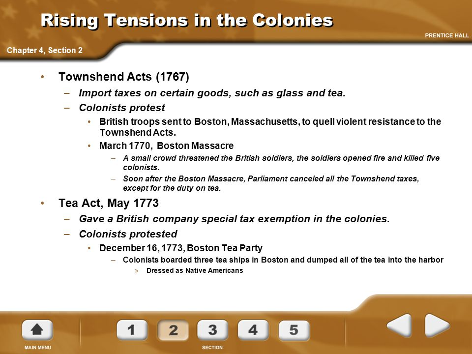 Rising Tensions in the Colonies