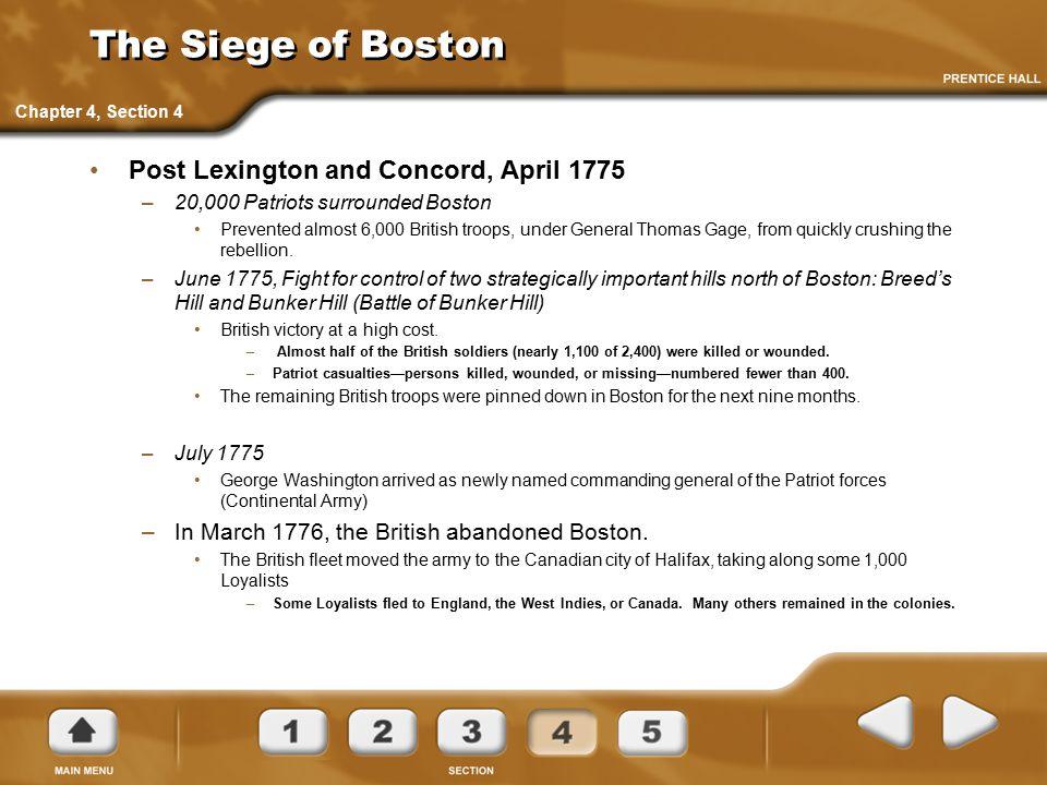 The Siege of Boston Post Lexington and Concord, April 1775