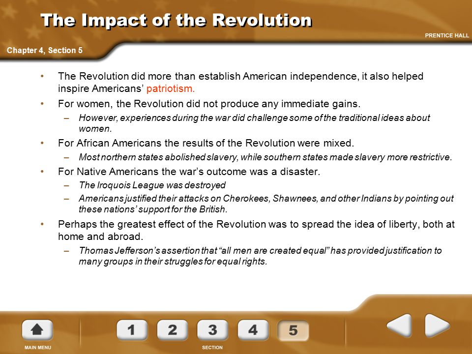 The Impact of the Revolution