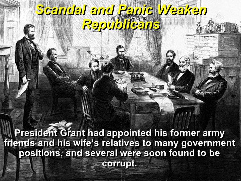 Scandal and Panic Weaken Republicans