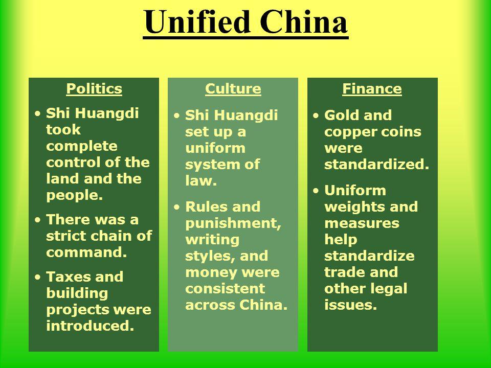 Unified China Politics