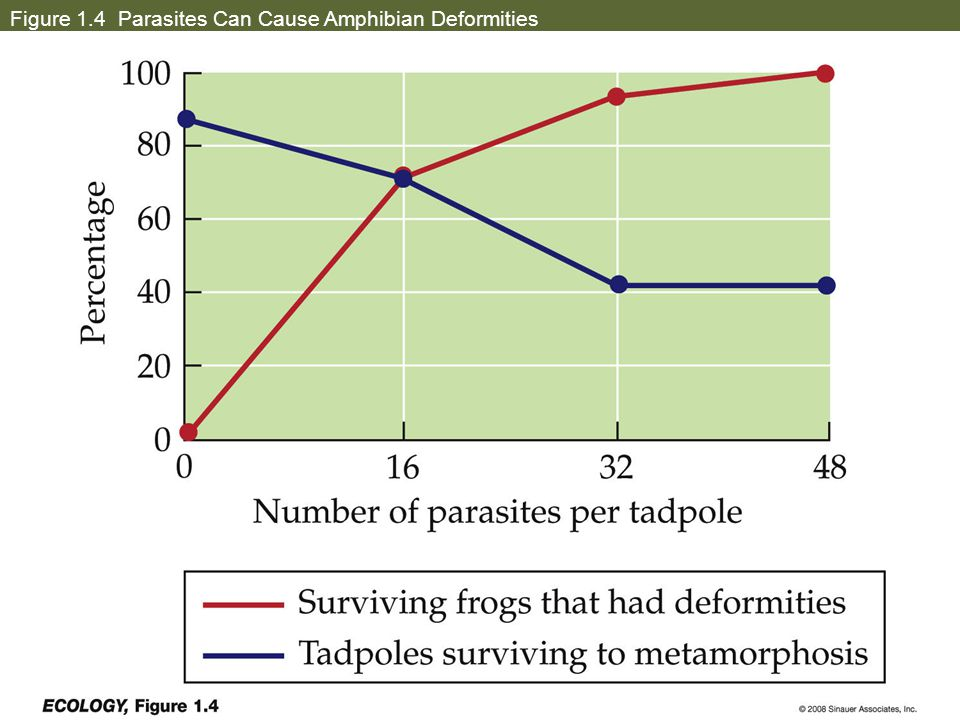 Figure 1.4 Parasites Can Cause Amphibian Deformities