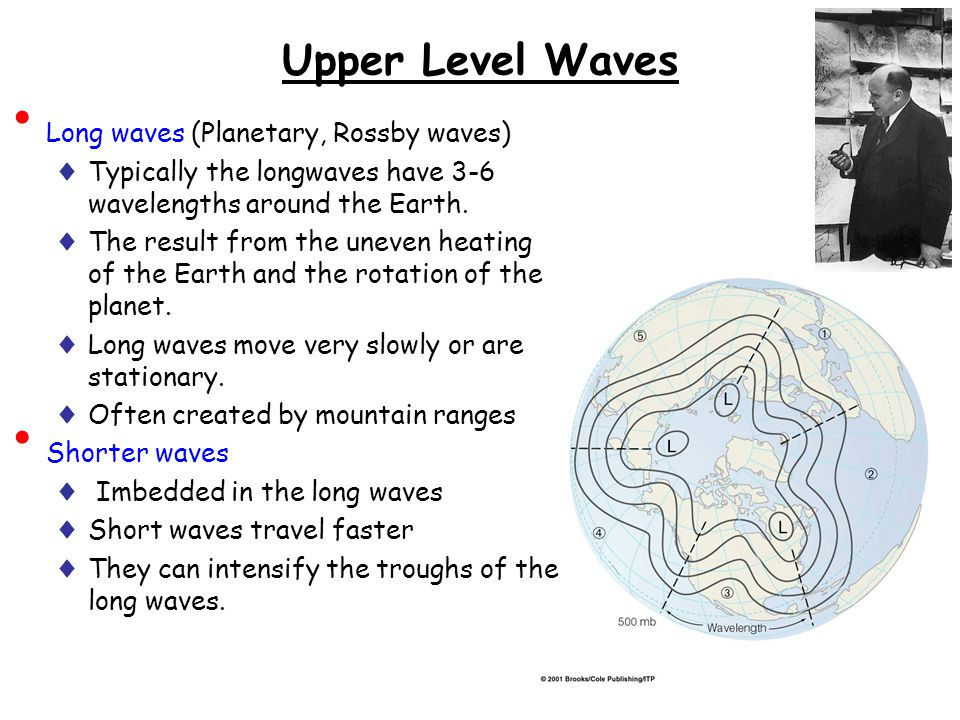 Upper Level Waves Long waves (Planetary, Rossby waves)