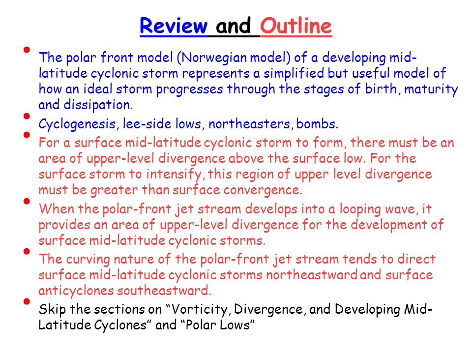 Review and Outline