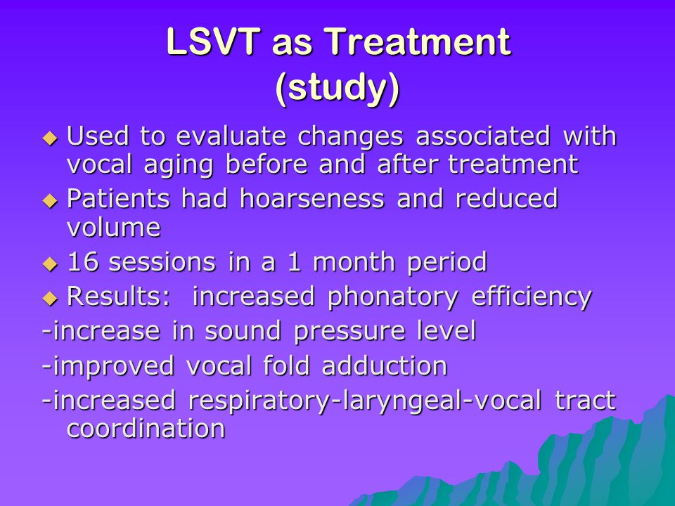 LSVT as Treatment (study)