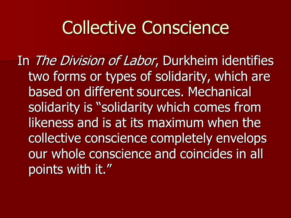 Collective Conscience