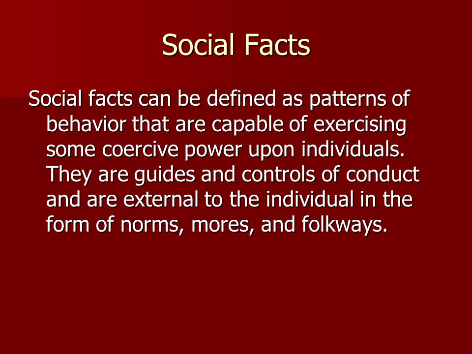Social Facts
