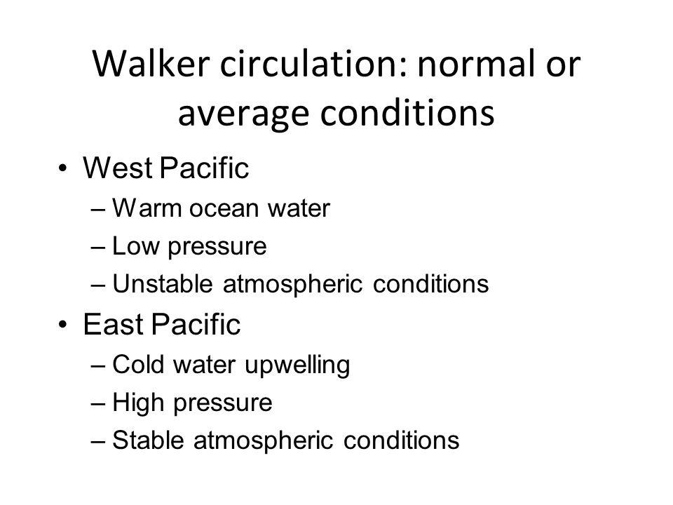 Walker circulation: normal or average conditions