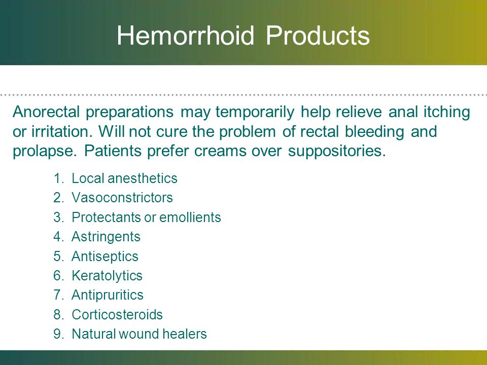Hemorrhoid Products
