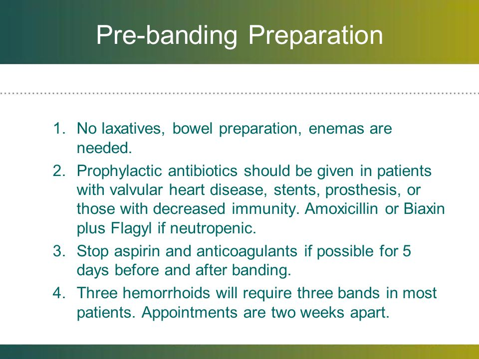 Pre-banding Preparation