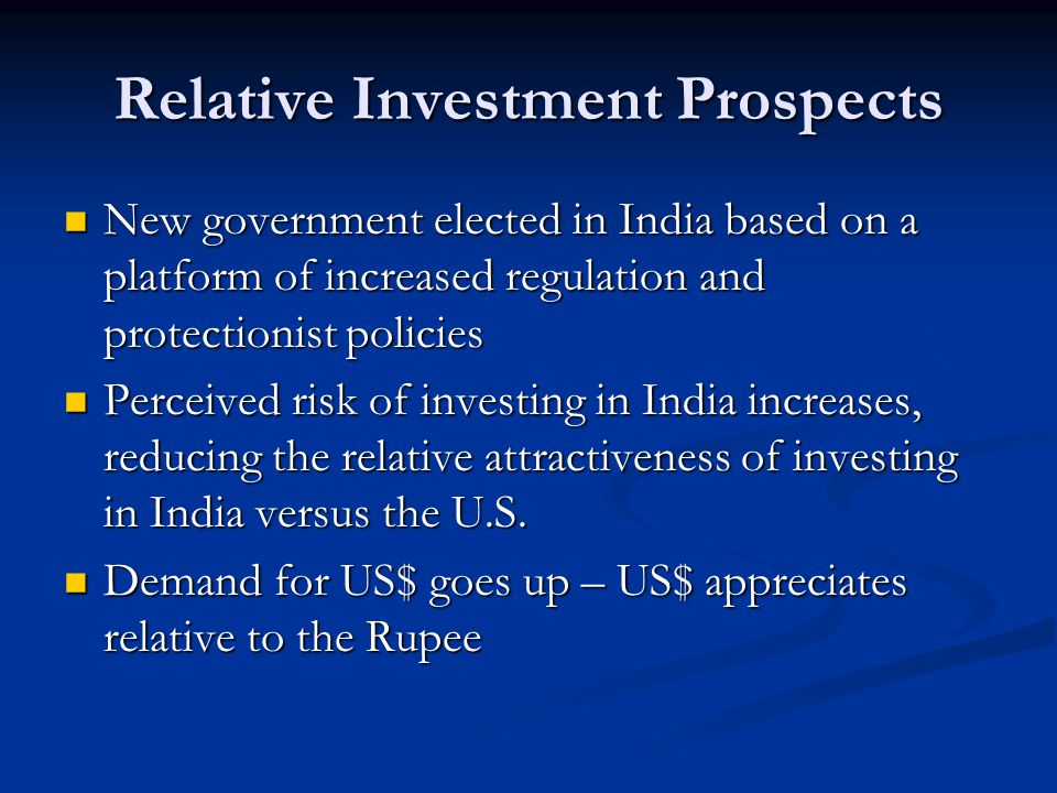 Relative Investment Prospects