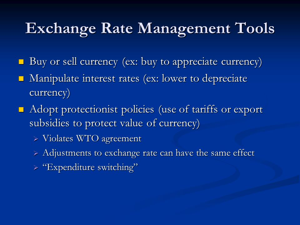 Exchange Rate Management Tools