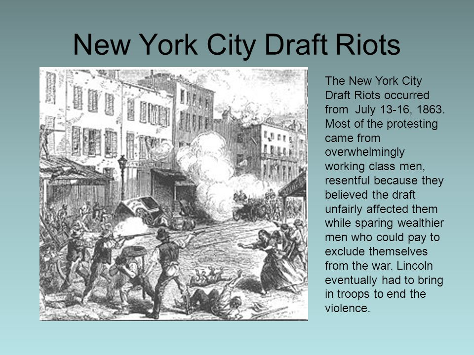new york city draft riots of New york city – the city of new york, often called new york city or simply new york, is the most populous city in the united states with an estimated 2015 population of 8,550,405 distributed over an area of about 3026 square miles.