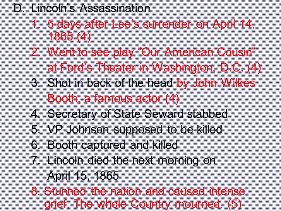 D. Lincoln's Assassination