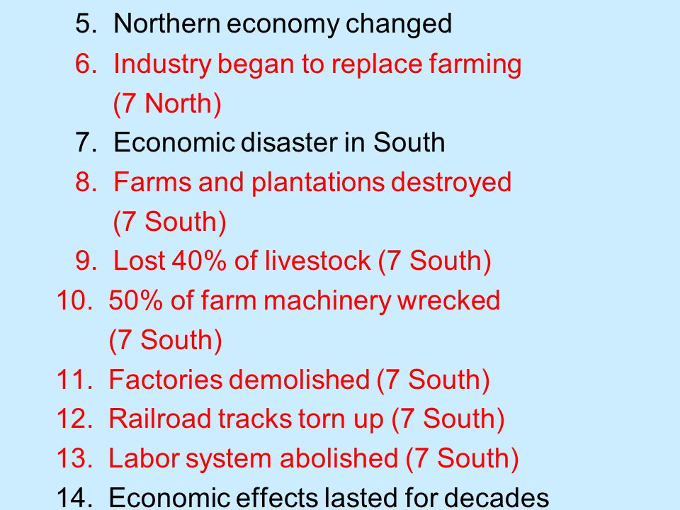5. Northern economy changed