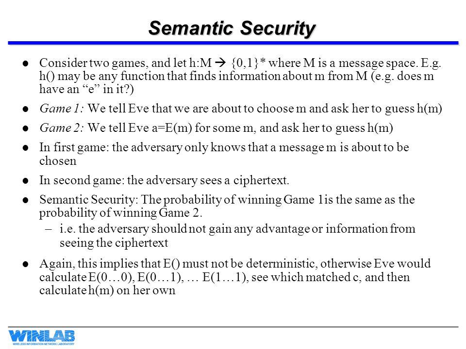 Semantic Security
