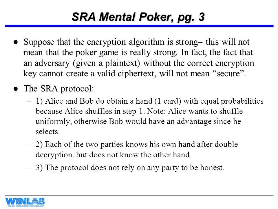 SRA Mental Poker, pg. 3