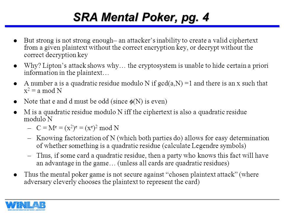 SRA Mental Poker, pg. 4