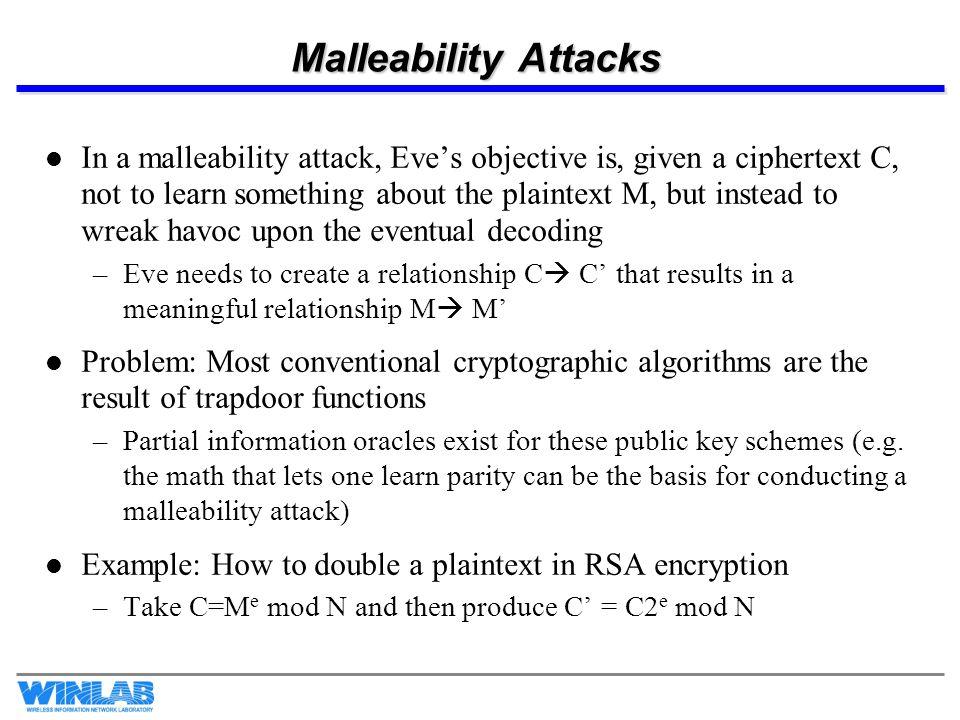 Malleability Attacks