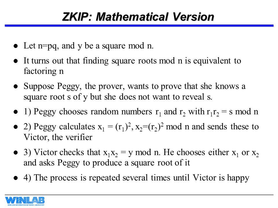 ZKIP: Mathematical Version