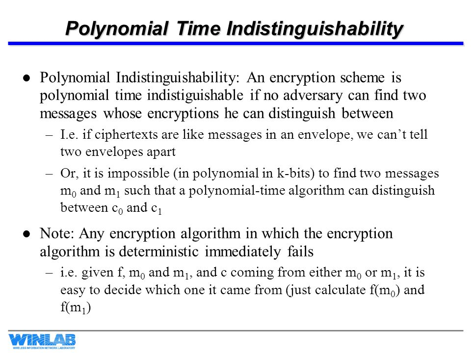 Polynomial Time Indistinguishability