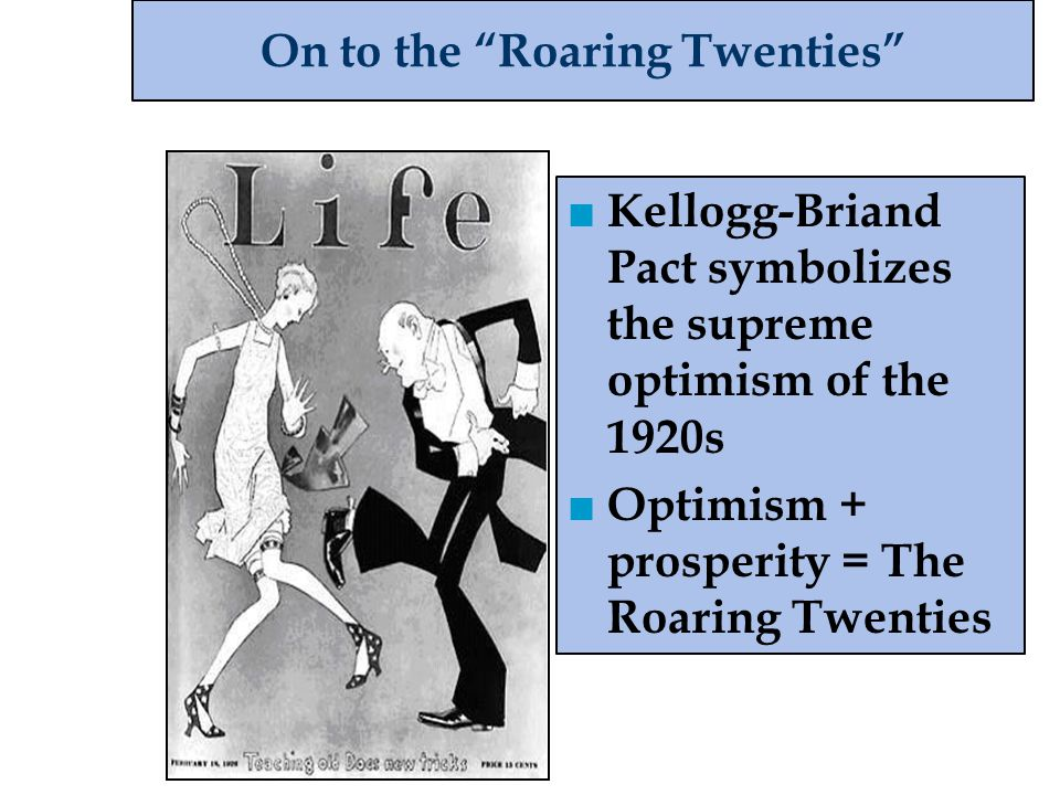 On to the Roaring Twenties