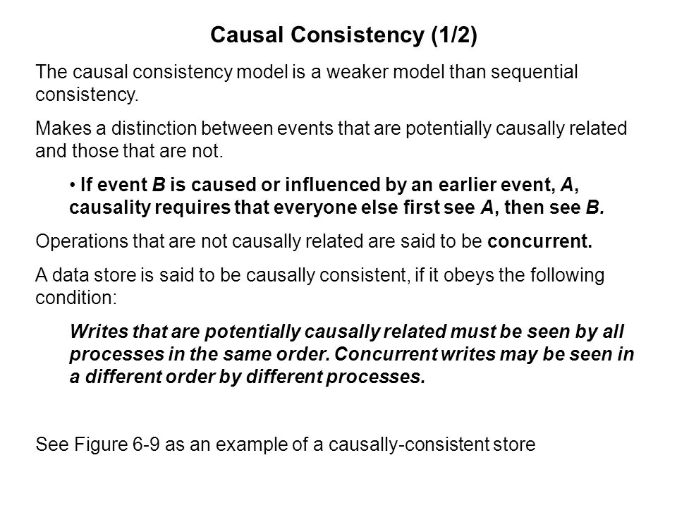 Causal Consistency (1/2)