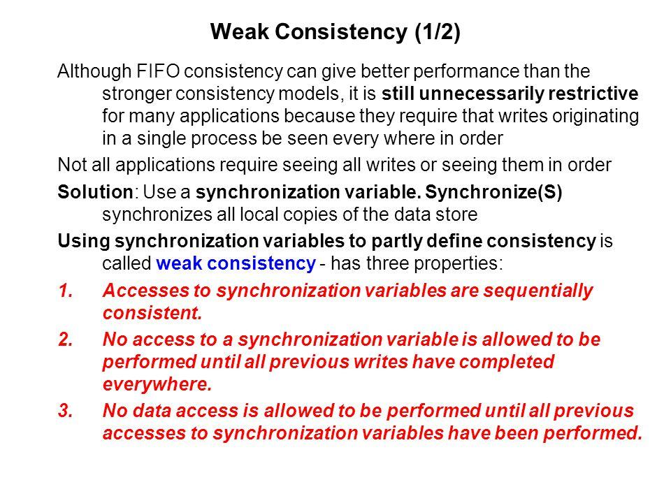 Weak Consistency (1/2)