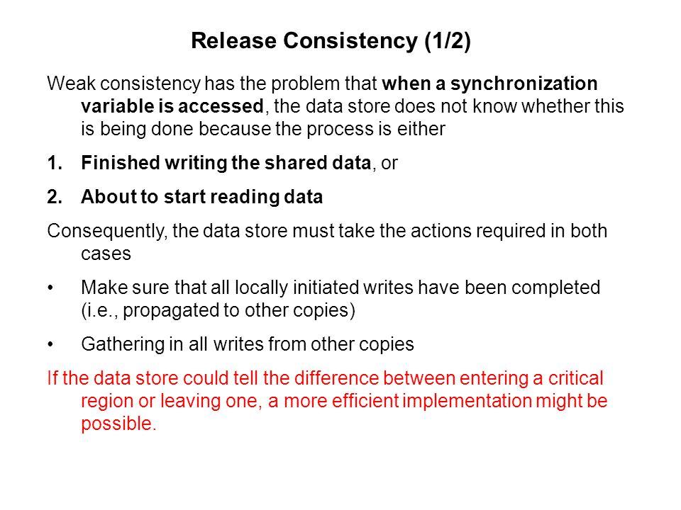 Release Consistency (1/2)