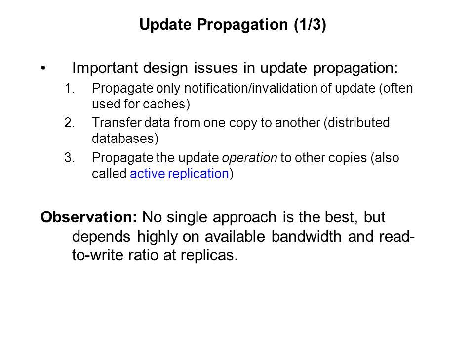 Update Propagation (1/3)