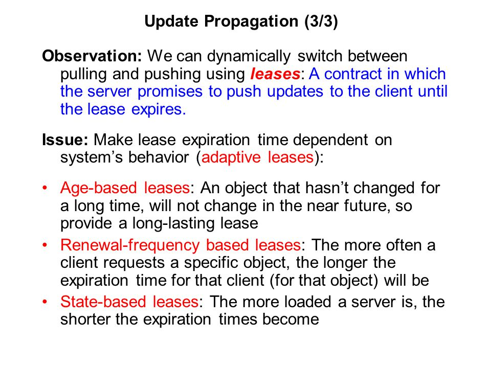 Update Propagation (3/3)