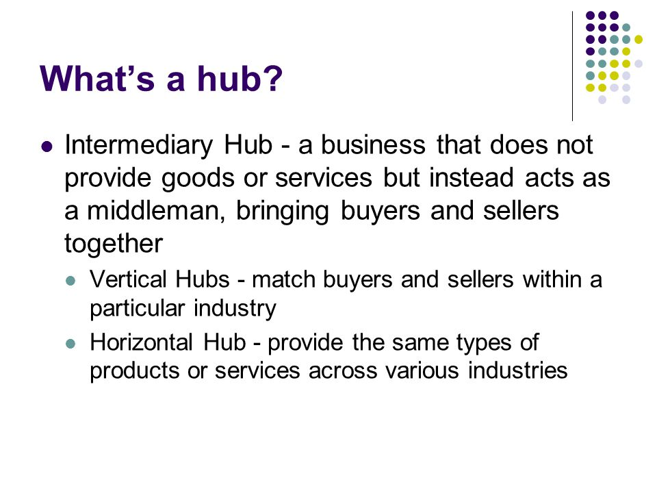 What's a hub