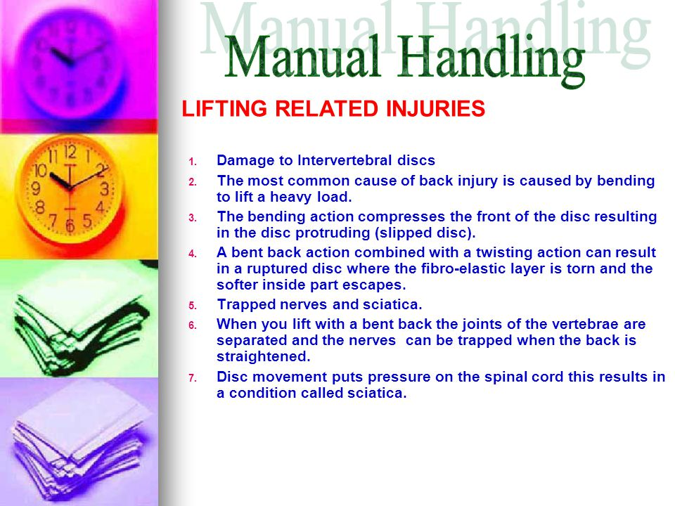 Manual Handling LIFTING RELATED INJURIES