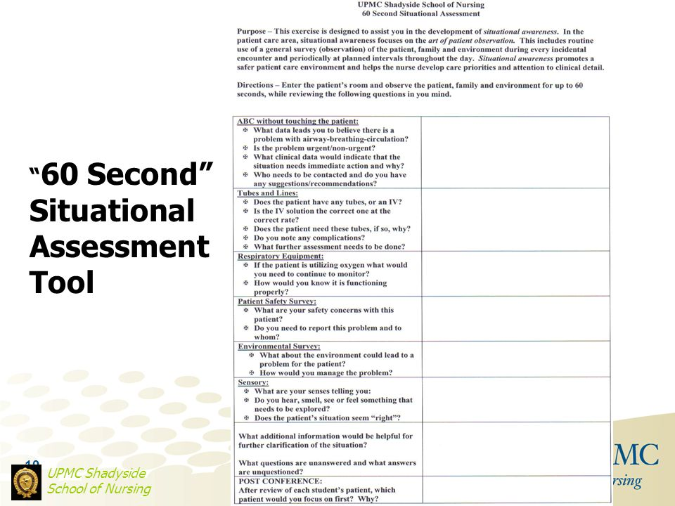 Situational Assessment Tool