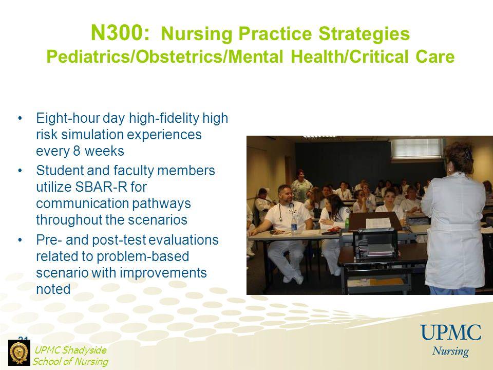 N300: Nursing Practice Strategies Pediatrics/Obstetrics/Mental Health/Critical Care