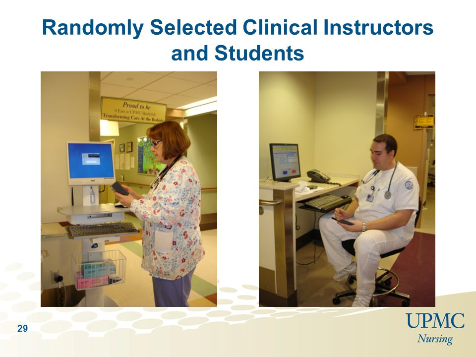 Randomly Selected Clinical Instructors and Students