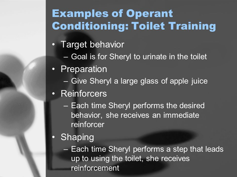 Examples of Operant Conditioning: Toilet Training