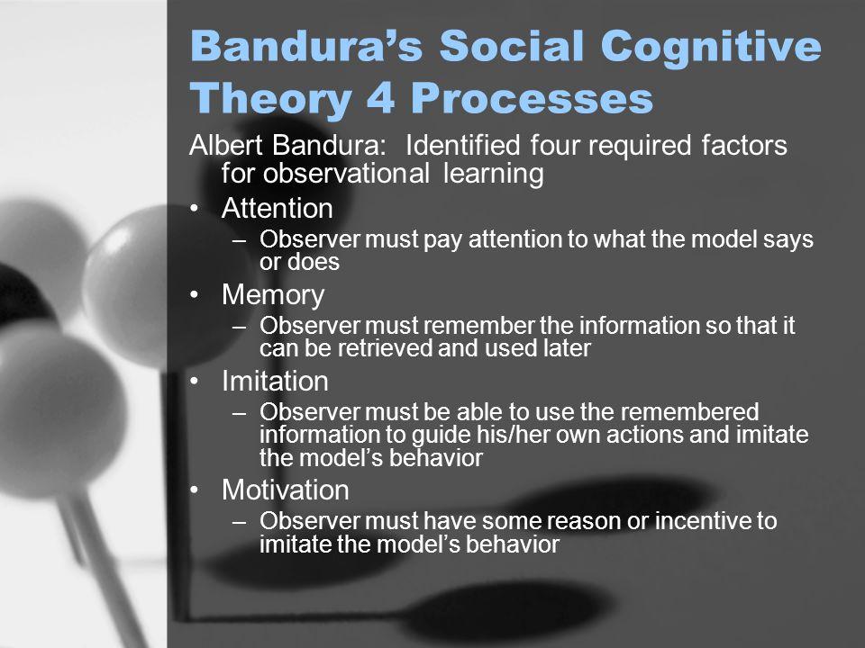 Bandura's Social Cognitive Theory 4 Processes
